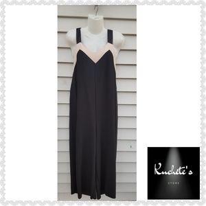 Zara Basic Black Sleeveless Jumpsuit